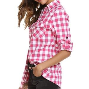 NWT Plaid Button Down